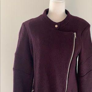 BB Dakota Jackets & Coats - BB Dakota Grayson Asymmetrical Wool Blend Coat